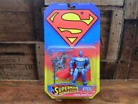 Super Man Man of Steel - Steel / John Henry Irons Action Figure Kenner 1998 MOC