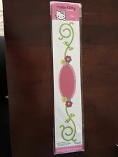 "Hello Kitty Frame w/ Flowers & Vine Sizzix Sizzlits 12"" Border Die 655885 NEW!"