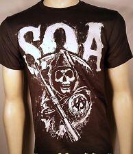 Sons Of Anarchy Soa Gruesos Tiza Logo Samcro Segador Crew Camiseta de Moto S-3XL