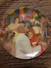 Annie Daddy Warbucks Finale Collectible Plate by Jeanne Down With Certificate