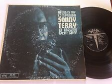 BROWNIE MCGHEE & SONNY TERRY BLUES IS MY COMPANION VERVE V-3008 RARE PROMO LP