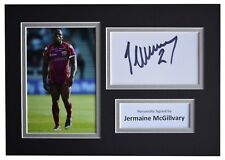 Jermaine McGillvary Signed Autograph A4 photo mount display Huddersfield Giants