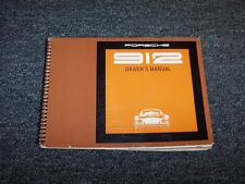 1969 Porsche 912 Coupe Original Owner Owner's Operator User Guide Manual 1.6L