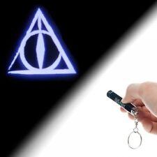 Harry Potter The Deathly Hallows Logo Projection Flashlight Keychain, NEW UNUSED