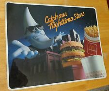 McDonalds Mac Tonight Catch Our Nighttime Stars Window Decal Display Sign 1988