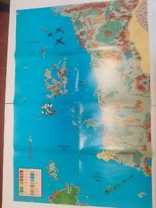 AD&D Forgotten Realms 2ed Campaign setting Faerun map Sea of Swords Coast