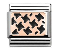 Nomination Charm Rose Gold Houndstooth RRP £22