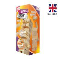 MINI TUMBLING TOWER Stacking Wood Game Toy Christmas Stocking Filler OT319079 UK