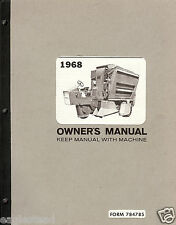 Farm Manual - Hesston - SP 55 - Cotton Harvester - Owner Manual - 1968 (FM245)
