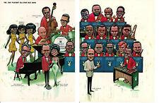 1967 PLAYBOY ALL-STAR JAZZ BAND ~ ORIGINAL 2-PAGE CARTOON PICTORIAL