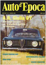 AUTO D'EPOCA 3/1996 ALFA ROMEO GIULIA GT – SABA STORY – TUCKER TORPEDO