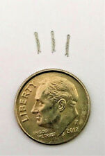 Dollhouse Miniature Bobby Pins - 3 Per Set - 1:12 Scale - Stainless Steel