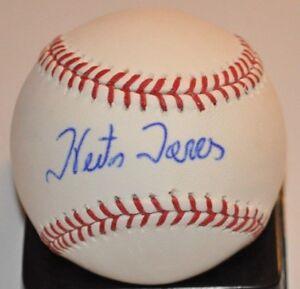 Hector Torres 1977 Toronto Blue Jays - Expos - Cubs Autographed ML Baseball COA