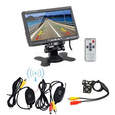 """Wireless IR Rear View Back up Camera Night Vision System+7"""" Monitor for Car SUV"""