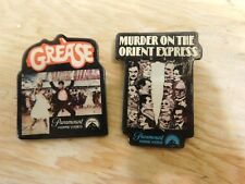2 Vintage Pinback Buttons Paramount Promo Grease Murder on the Orient Express