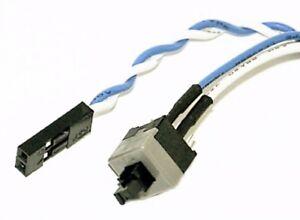 Reset-Taster Power Switch Netzteil Mainboard ATX 2-pol Kabel PC-Gehäuse Schalter