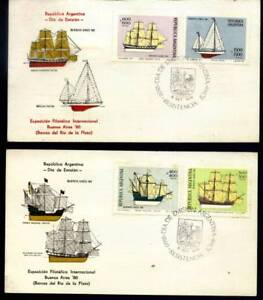 AAF-288 ARGENTINA 1977 SHIPS, OLD SAILSHIPS FIRST DAY CARDS