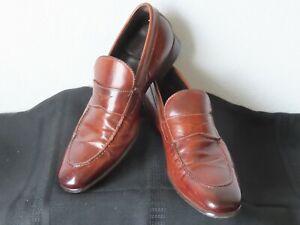 To Boot New York Adam Derrick Cognac Burnished Italian Loafers. 7.5