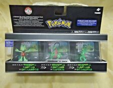 Pokemon Trainer's Choice Mini Figure 3-Pack Treecko Grovyle Sceptile Case Hoenn