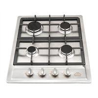 60cm 4 Burner Side Control Gas Hob in Stainless Steel + LPG Kit Gas Hob Cooker