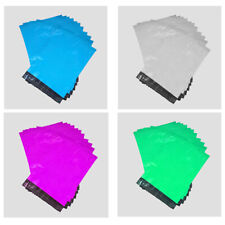 """10/20/50/100 Pack of 6x9""""/9x12""""/11x14""""/18x23"""" Coloured Plastic Sealable Mail Bag"""