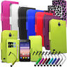 For Huawei Ascend Y550 L01 L02 L03 Wallet Leather Case cover Book + Stylus