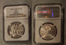 Scarce 1924 PL USSR(Russia) Large silver 1 Rouble NGC MS64