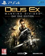 Deus Ex Mankind Divided Day One Edition PS4 * NEW SEALED PAL *