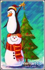 WALMART CHRISTMAS TREE PENGUIN RIDING SNOWMAN COLLECTIBLE GIFT CARD