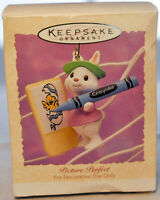 Hallmark - Picture Perfect - Rabbit with Crayon - Keepsake Easter Ornament 1994