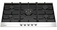 MILLAR GH9051TDB 5 Burner Built-in Gas on Glass Hob 90cm