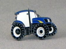 Blue Tractor Pin Badge