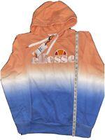 NWT Ellesse Men's OH Hoodie Tie Dye Embroidered Hoody Sz L Blue Peach MSRP $105