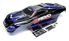 1/10 Brushless E-REVO BODY shell (DARK BLUE + BLACK & Decals Traxxas #5608