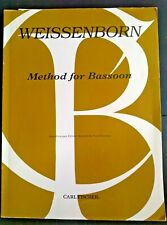 Method for Bassoon by Julius Weissenborn, New old stock