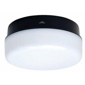 ASD Circular External Bulkhead Light Fitting - White or Black