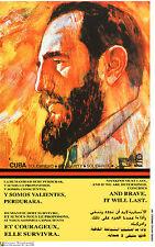 Political Cuban POSTER.FIDEL CASTRO Cuba Revolution Art.Cold War.Guerra Fria.53
