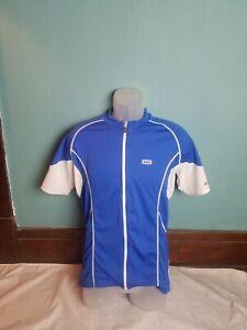 Louis Garneau Women's Full Zip Cycling Jersey Size Large L Blue