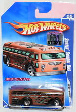 Hot Wheels 2009 Hw Ciudad Obras Surfin ' Autobús Escolar #05/10 Marrón Factory