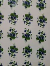 Ceramic decals blue pansies/ violets flower 1 inch bits