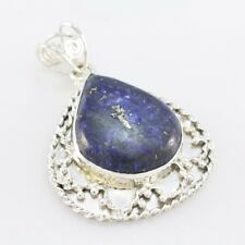 Blue 925 Sterling Silver genuine fine-looking Lapis Lazuli jewelry Pendant AU