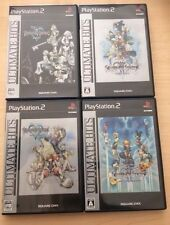 PS2  Lot of 4 Ultimate Hits Kingdom Hearts 1 2 Final Mix import Japan Very Good
