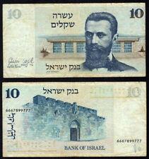 Pick #45 10 Sheqalim 1978 Israel Fine