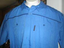 NWT ECKO UNLTD BLUE S/S FULL BUTTONED DRESS SHIRT SZ:3XB 3XL 3X