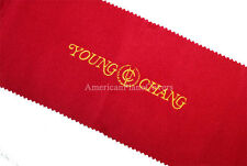 Young Chang Piano Key Cover - Red Felt Embroidered Keyboard Cover