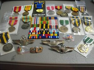 NEW Military Medals, Ribbons, Badges and much more. Large LOT for resale
