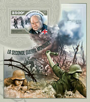 Niger Military & War Stamps 2014 MNH WWII WW2 Winston Churchill 1v S/S