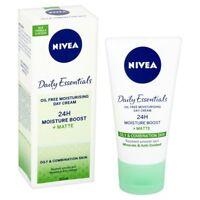 3 x Nivea Daily Essentials Oil Free Moisturising Face Day Cream, 50 ml - NEW
