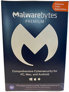 Malwarebytes Anti-Malware Premium 4.2  5 PC- 1 yr 2020 version Product Key Card