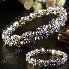Hecho a mano de joyería de moda Tibet Tibetana señoras plata brazalete pulsera aaa260